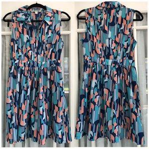 Retro Patterned Dress